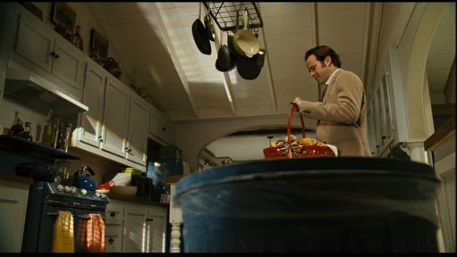 A person cooking in a kitchen