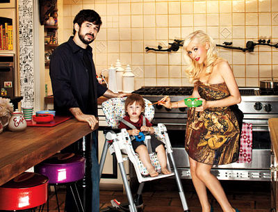 Christina Aguilera-Jordan Bratman at home InStyle Magazine spread