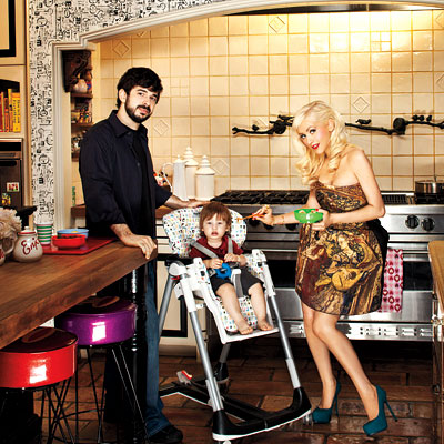 Christina Aguilera-Jordan Bratman at home InStyle Magazine spread
