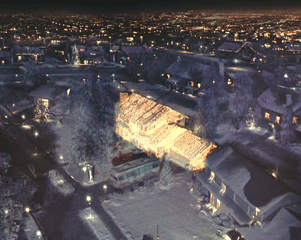 Christmas Vacation house-seen from sky
