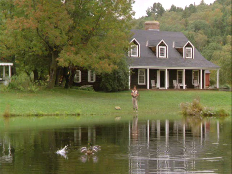 Funny Farm house Chevy Chase fishing in the pond