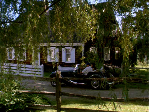 Funny Farm movie house Chevy Chase roadster