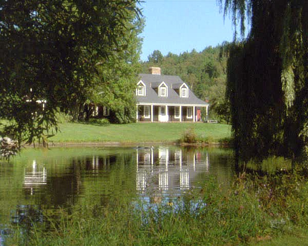 Funny Farm movie house-across pond