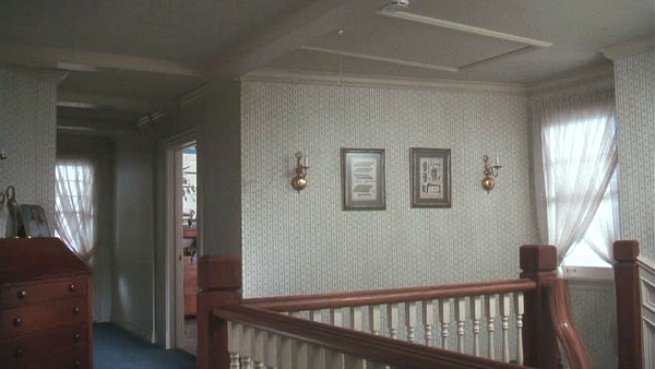 Griswold house Christmas Vacation movie upstairs landing