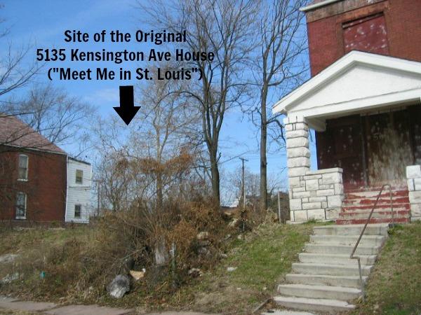 Site of original Meet Me in St. Louis house