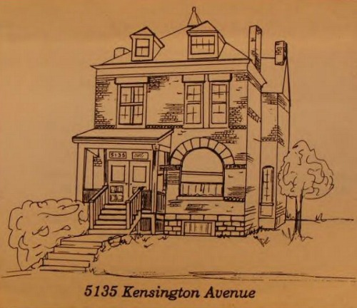 Sketch of the Real 5135 Kensington Ave house