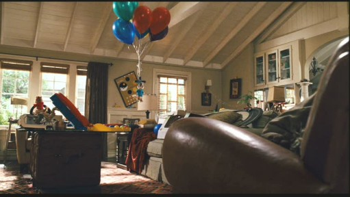 balloons in living room