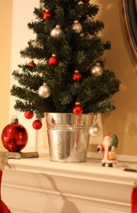 closeup mantel tree