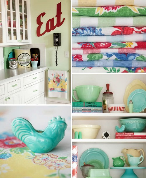 Meadowbrook Farm vintage kitchen collage 1