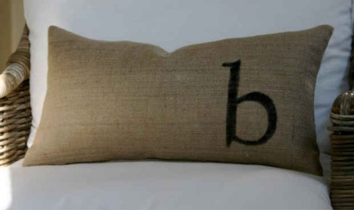 My Sparrow-monogrammed pillow