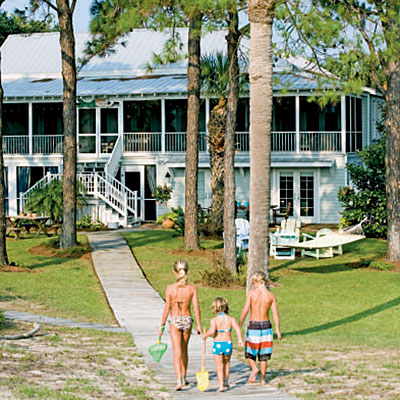Tybee Island beach house with screened porch