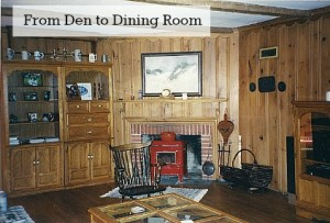 Before and After Den to Dining Room-Renita