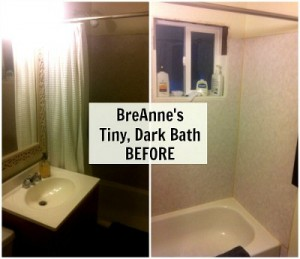BreAnne's tiny dark bathroom BEFORE