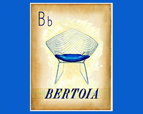 Century Finds-Bertoia Chair print