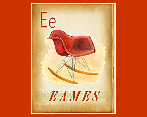 Century Finds-Eames Rocker print