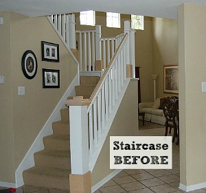 Before after hooked on houses for Diy staircase makeover