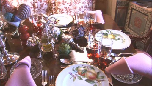 Gstaad table setting