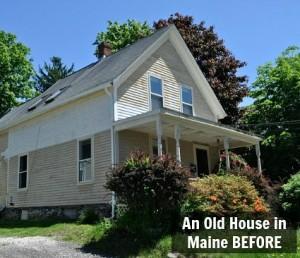 Laurel's New Englander in Maine BEFORE