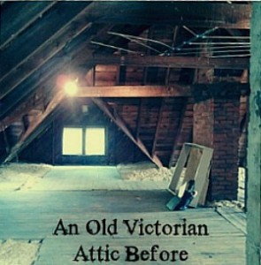Old Victorian Attic in Granville OH before