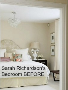 Sarah Richardson's bedroom before