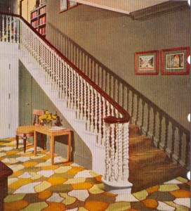 BHG gold-avocado foyer