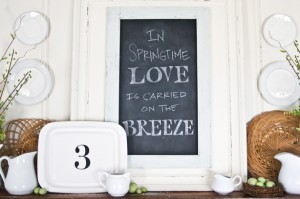 Lettered Cottage-Spring mantel