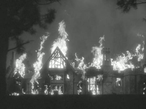 Manderley burning down 2