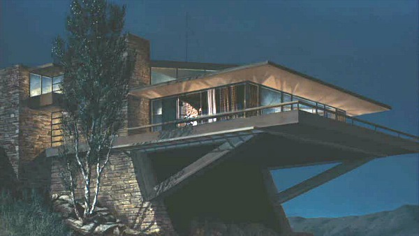 Modernist Vandamm House in North by Northwest Movie