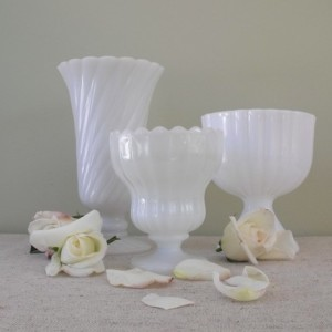 Solstice Home-vintage milk glass