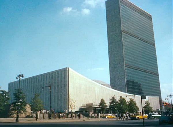 UN exterior in North by Northwest