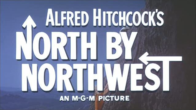 North by Northwest movie opening titles MGM Pictures