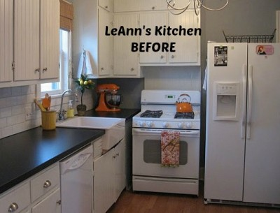 LeAnn's white kitchen before makeover