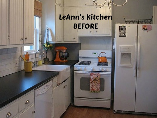 LeAnn's white kitchen before makeover