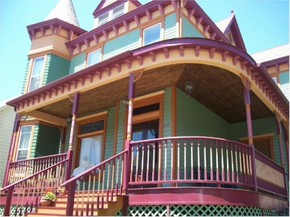 Victorian house after-porch
