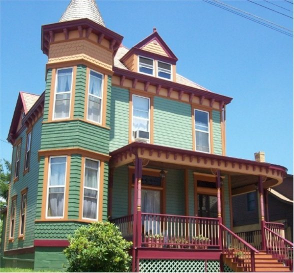 Victorian house after-turret side