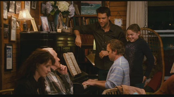 family around piano