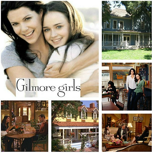 Gilmore Girls Lorelai and Rory-Sets collage