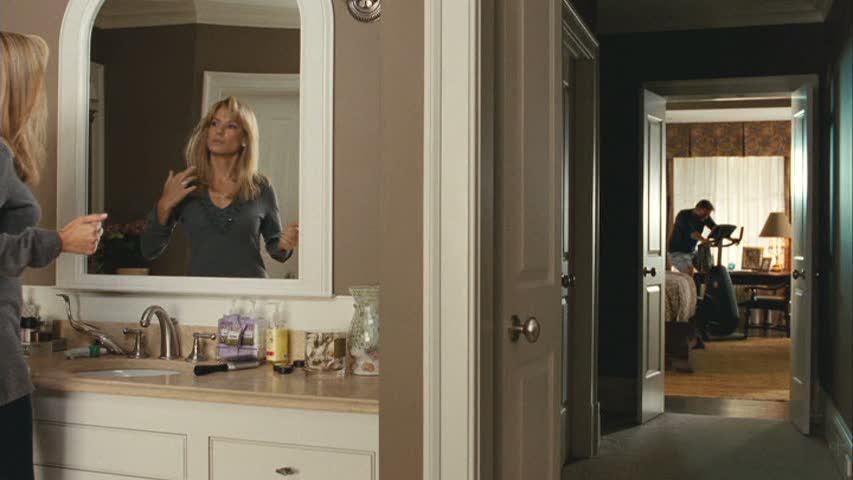 Sandra Bullock in the bathroom