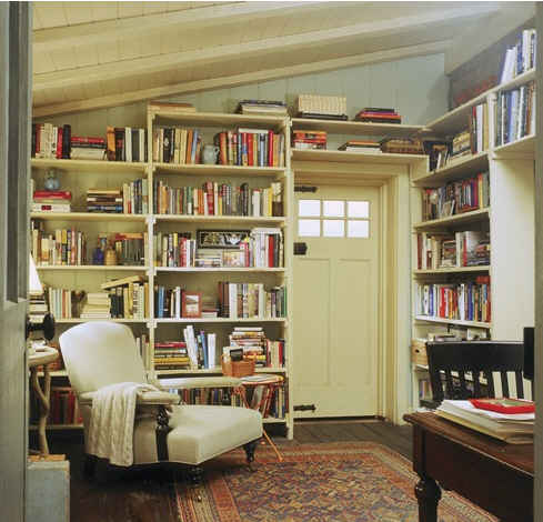 Iris's cottage library