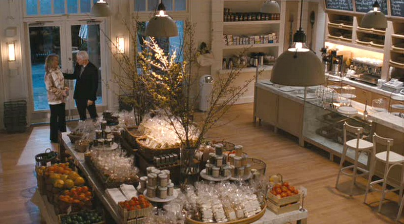 Jane Adler's Bakery in It's Complicated Movie overhead