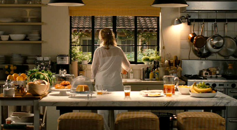 Meryl Streep cooking in the It's Complicated house kitchen