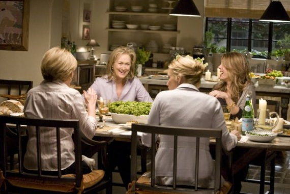 Meryl and friends in dining room