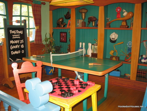 ping pong table and checkerboard game