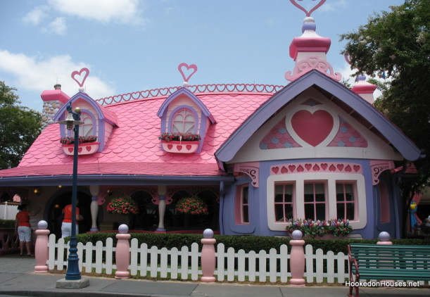 Minnie Mouse's Pink & Purple Cottage at Disney World - Hooked on ...