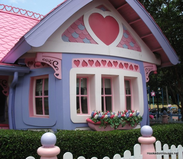 cartoon house door. This house is little-girl