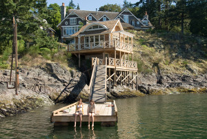 screenshot of dock and back of house in movie The Uninvited