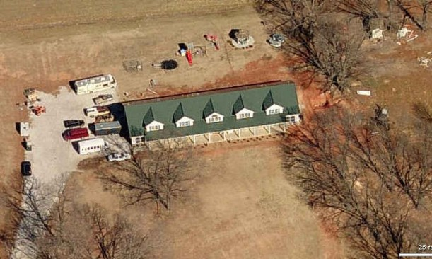 Duggar house-birdseye view