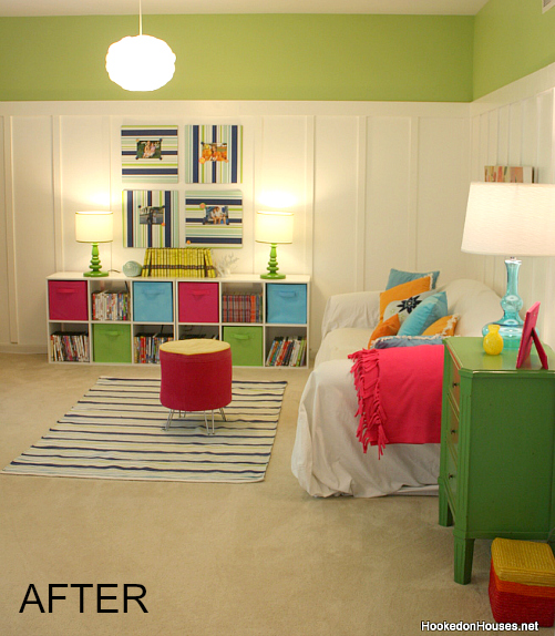 Hooked on Houses our playroom AFTER makeover