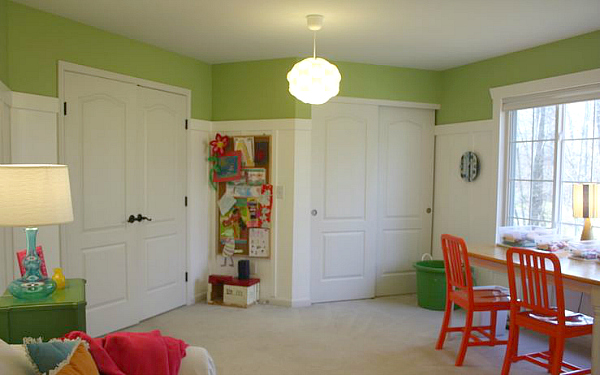 Playroom 12-11 double doors orange chairs