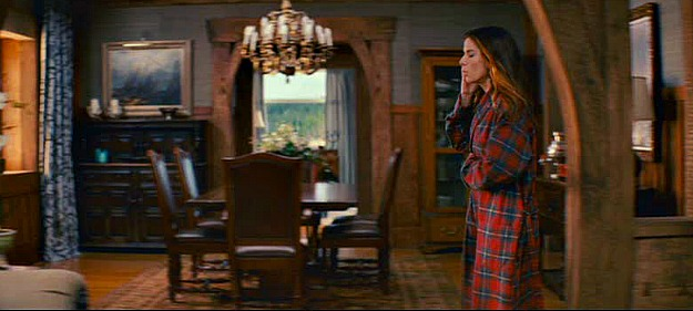 Sandra Bullock walks through dining room in The Proposal movie